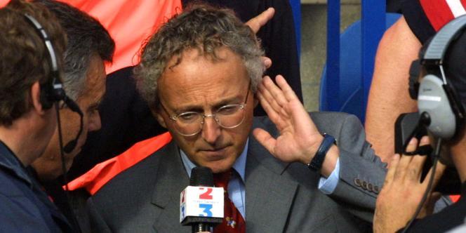 Nelson Monfort à Paris, le 27 octobre 2001.
