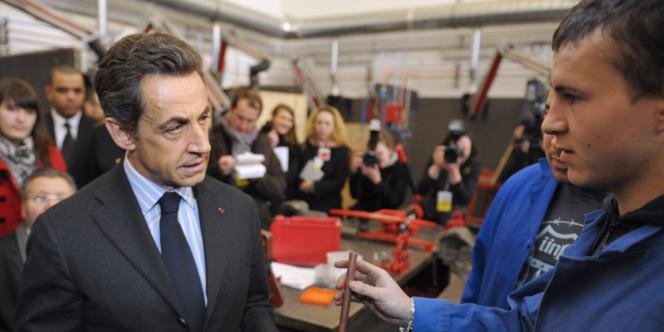 Nicolas Sarkozy, le 1er mars, à Bobigny.