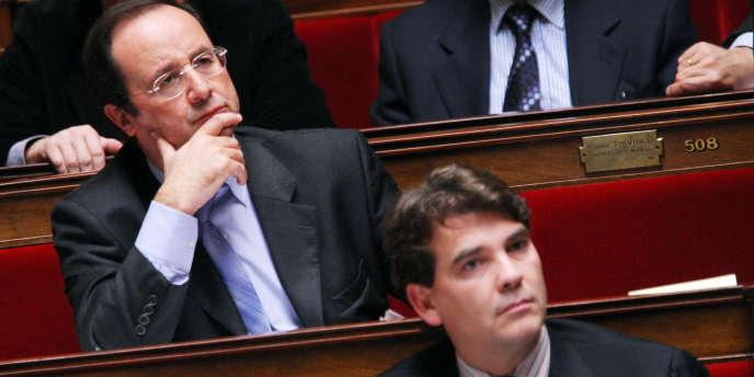 François Hollande et Arnaud Montebourg, à l'Assemblée nationale, en 2007.