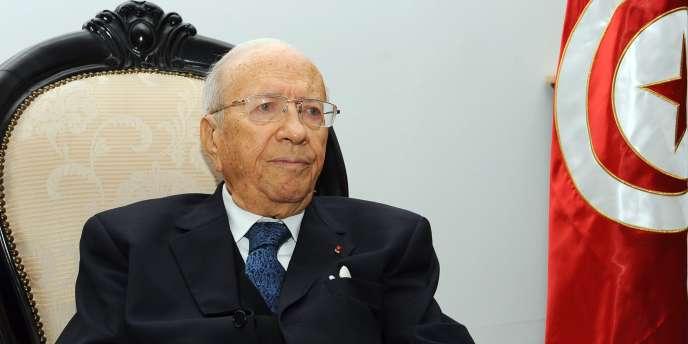 Le chef du gouvernement tunisien transitoire, Béji Caïd Essebsi, à Tunis, le 2 mars 2011.