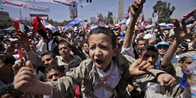 Manifestation à Sanaa, au Yémen, contre le président Saleh, vendredi 4 mars 2011.