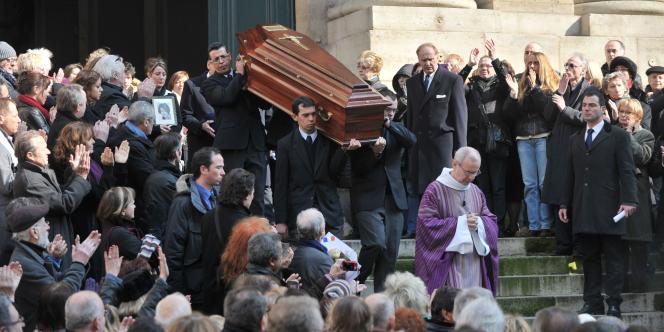 Funérailles à l'église Saint-Roch, à Paris.