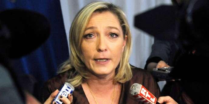 Marine Le Pen, à Lille, le 5 mars 2011.