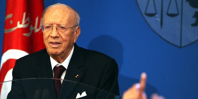 Beji Caid Essebsi, le premier ministre tunisien, le 7 mars 2011 à Tunis.