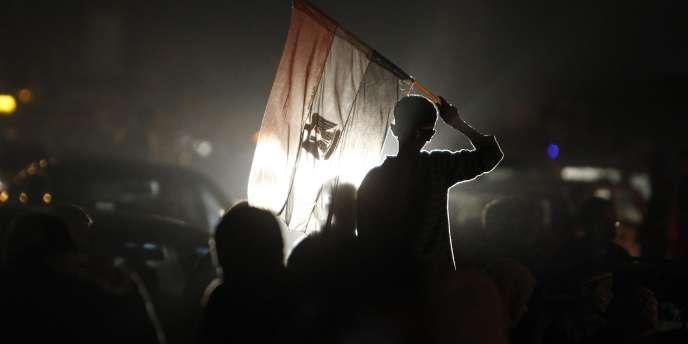 Manifestation place Tahrir, au Caire, le 6 mars 2011.