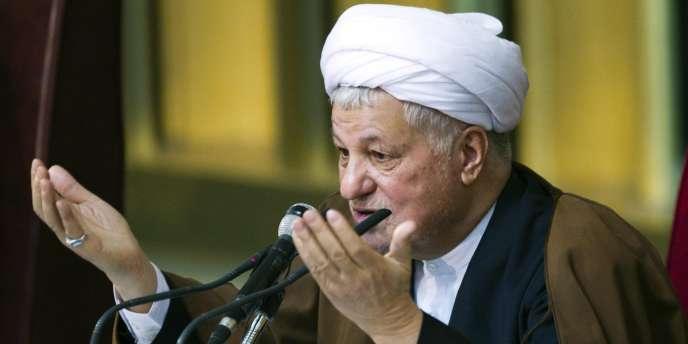 L'ancien président iranien Akbar Hachémi Rafsandjani, à Téhéran en mars 2011.
