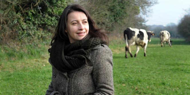 Cécile Duflot, secrétaire nationale d'Europe Ecologie-Les Verts, à Brest, le 5 mars 2011.