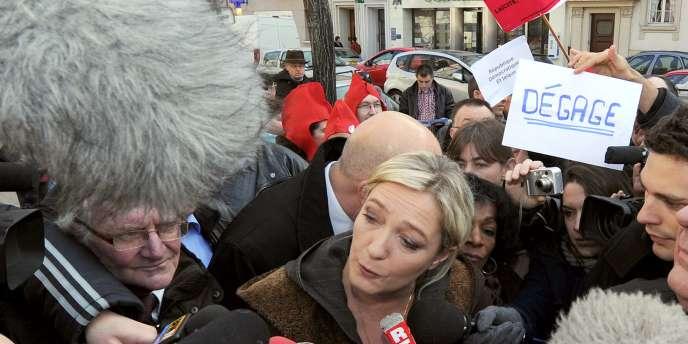 Marine Le Pen à Strasbourg, le 8 mars 2011.