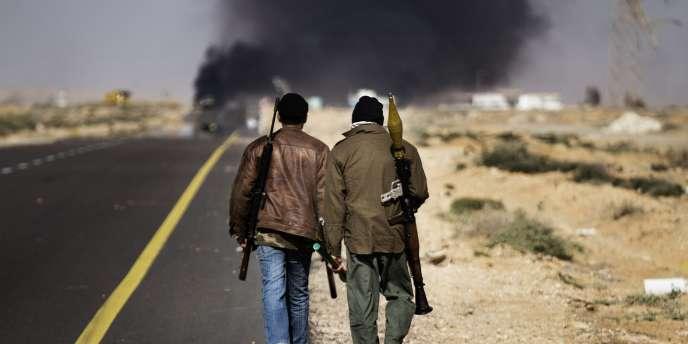 Des opposants libyens à Sedra jeudi 10 mars 2011.