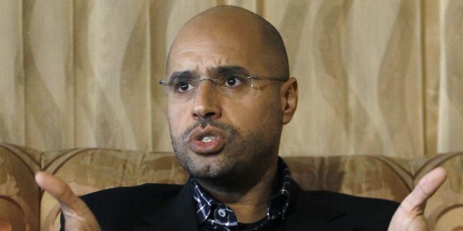 Saïf Al-Islam, ici à Tripoli en mars, est le deuxième fils du Guide libyen.