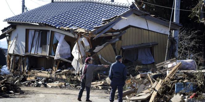 Au lendemain du séisme du 12 mars 2011, à Minamisoma, ville de la préfecture de Fukushima.