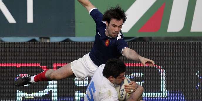 Morgan Parra contre l'Italie le 12 mars.