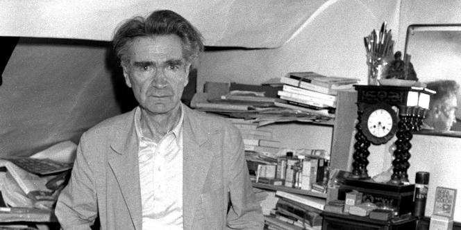 L'écrivain et philosophe Emil Cioran à Paris en juillet 1981.