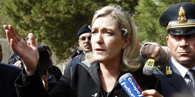 La présidente du FN, Marine Le Pen, le 14 mars 2011.