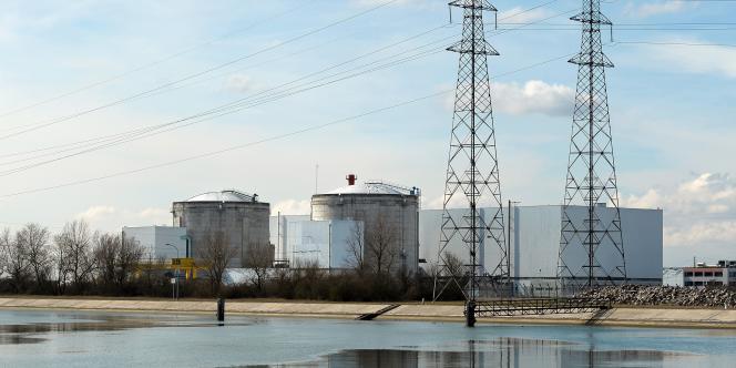 La centrale nucléaire de Fessenheim, dans le Haut-Rhin.