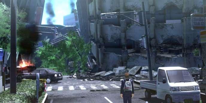 Zettai Zetsumei Toshi 4 permettait de jouer dans une mégalopole victime d'un fort séisme.