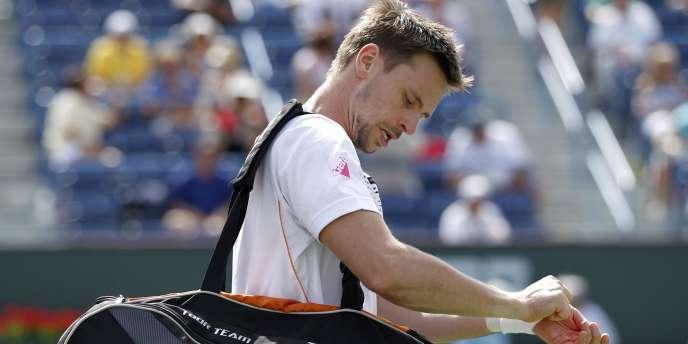 Diminué par une mononucléose depuis plus d'un an, Robin Söderling, ici au Masters 1000 d'Indian Wells en 2011, a déclaré forfait pour Roland-Garros.