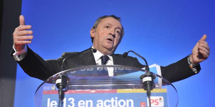 Le président du conseil général des Bouches-du-Rhône et numéro un du PS à Marseille, Jean-Noël Guérini, à Allauch, le 17 février 2011.