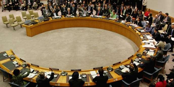 Une séance du Conseil de sécurité, le 17 mars 2011.