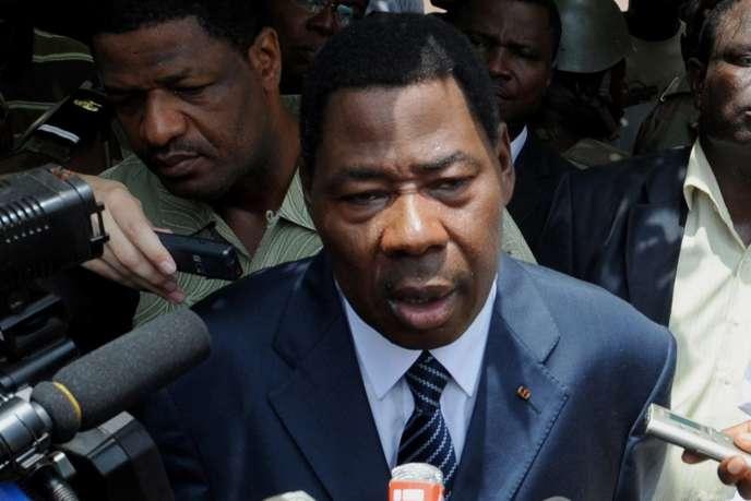 Le président du Bénin, Boni Yayi, le 13 mars 2011 à Cotonou.