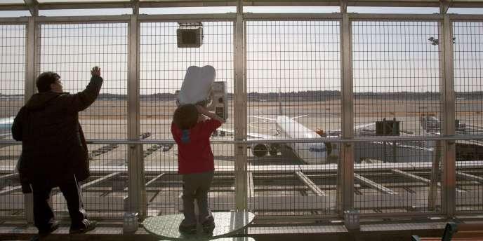 A l'aéroport de Narita, à Tokyo, le 19 mars 2011.