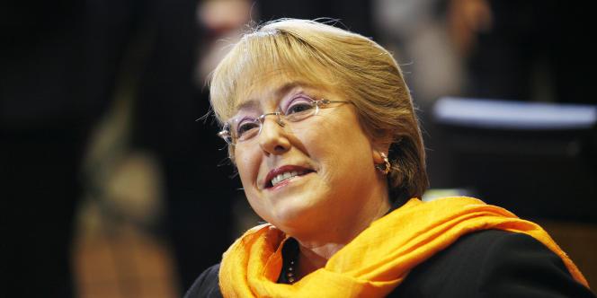 L'ex-présidente du Chili, Michelle Bachelet, aujourd'hui à la tête de l'agence ONU femmes, le 15 septembre 2010, à Valparaiso (Chili).