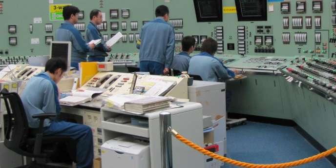 La salle de contrôle du réacteur n°3 de la centrale de Fukushima, en septembre 2010.