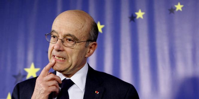 Alain Juppé, le 21 mars 2011 à Bruxelles.