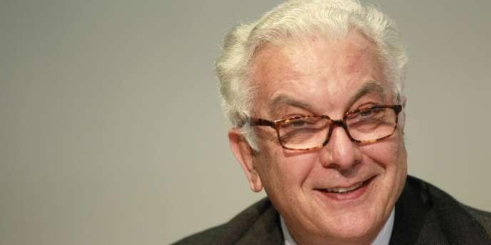Le président de la Biennale de Venise, Paolo Baratta, lors d'une conférence de presse à Zurich, le 14 mars 2011.