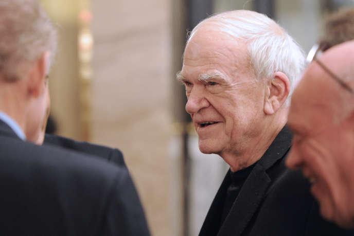 Le romancier Milan Kundera à Paris en novembre 2010.