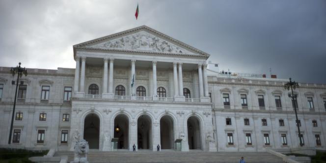 Vue du Parlement Portugais, le 22 mars 2011.