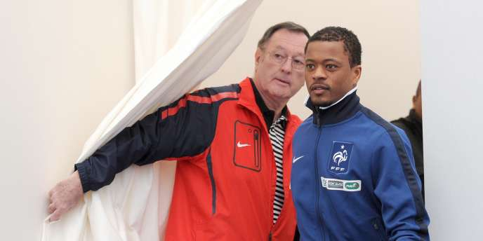 Patrice Evra, le 23 mars, à Clairefontaine.