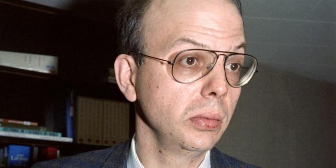 Patrick Buisson, en 1987 à Puteaux, à l'époque directeur du journal