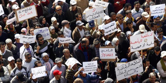 20 000 personnes ont défilé à Casablanca le 20 mars.