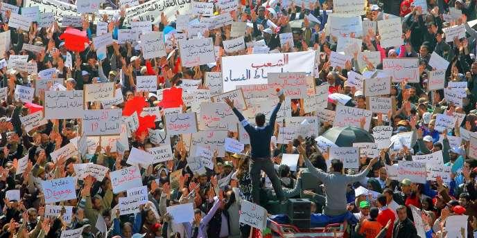 Manifestation à Casablanca le 20 mars.