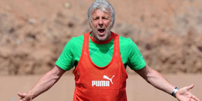 Eric Gerets, le sélectionneur du Maroc, à Marrakech le 22 mars.