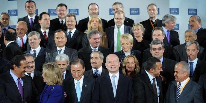 Les pays arabes sont apparus en retrait mardi à la conférence ministérielle de Londres visant à préparer la Libye de l'après-Kadhafi.