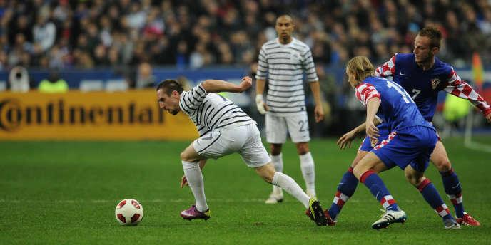 Franck Ribéry face aux Croates le 29 mars.