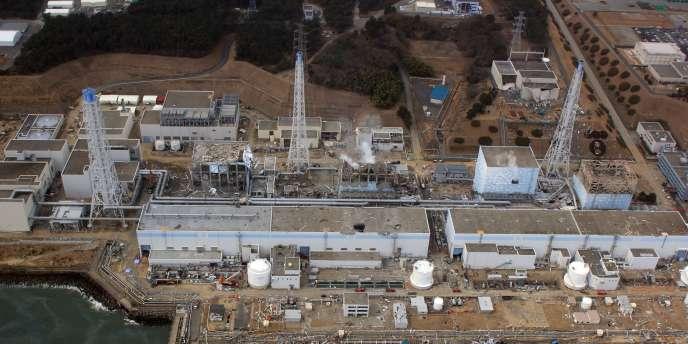 Vue aérienne de la centrale de Fukushima, le 20 mars 2011.