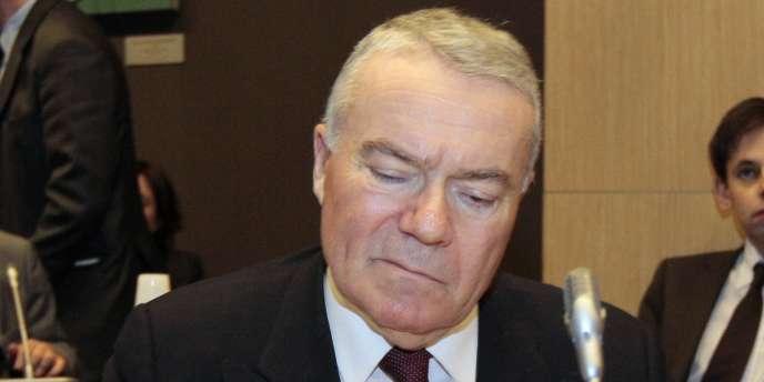 Le président de l'Autorité de sûreté nucléaire (ASN), André-Claude Lacoste, à Paris, le 16 mars 2011.