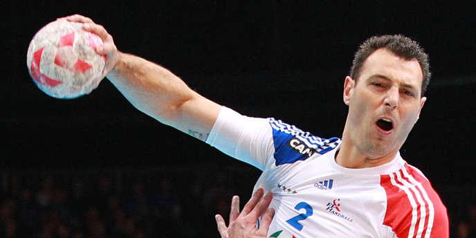 Jérôme Fernandez contre la Serbie le 10 mars à Liévin.