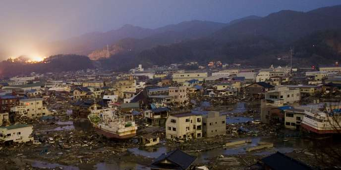 Vue générale de la ville de Kesen-Numa, dans la préfecture de Miyagi, le 20 mars.