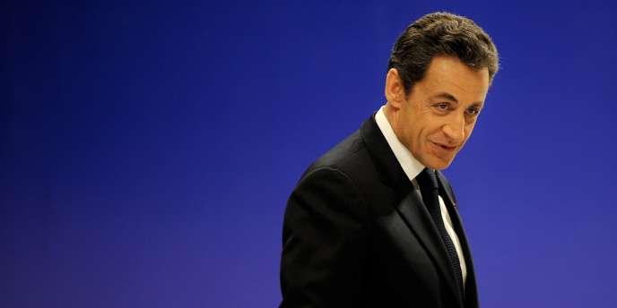 Nicolas Sarkozy lors de sa visite à Nankin, en Chine