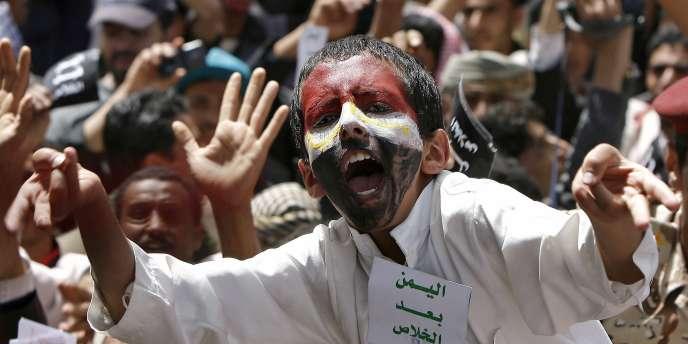 Un jeune Yéménite lors d'une manifestation anti-Saleh, le 1er avril 2011 à Sanaa.