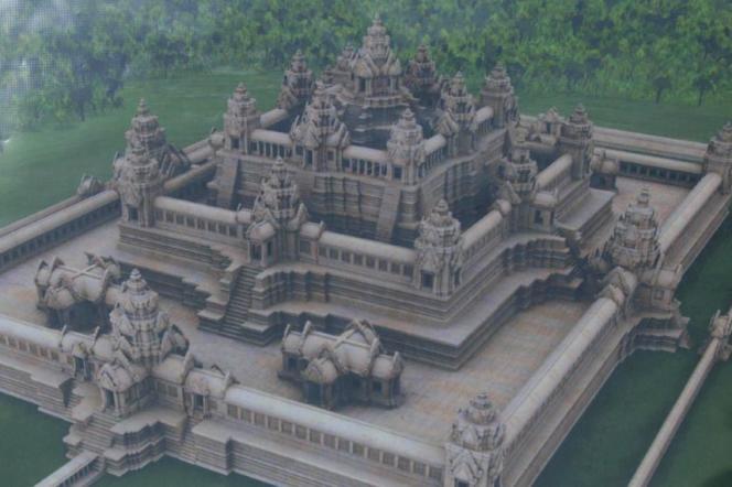 Projection 3D du temple du Baphûon.