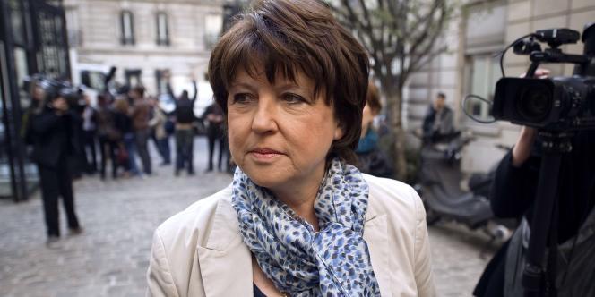 Martine Aubry, le 5 avril 2011, à Paris.
