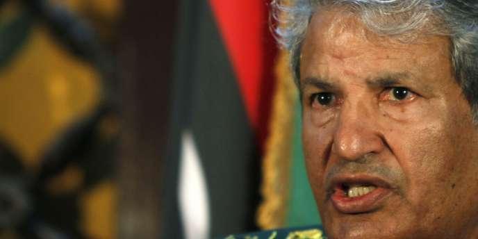 Abdel Fattah Younis, chef militaire des rebelles libyens, à Benghazi, le 5 avril 2011.