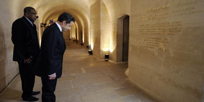 Nicolas Sarkozy a rendu hommage à Aimé Césaire, mercredi 6 avril, en exaltant