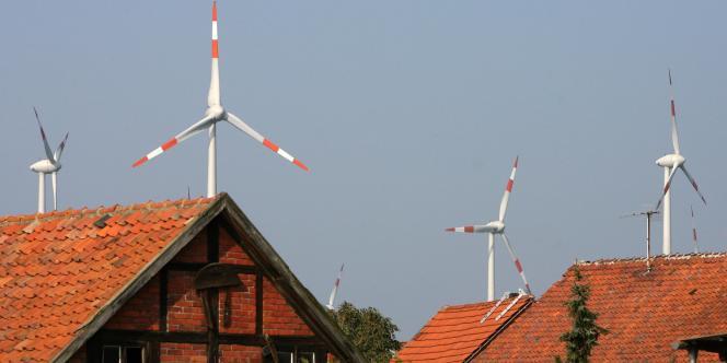 Installations éoliennes à Dardesheim, en Allemagne