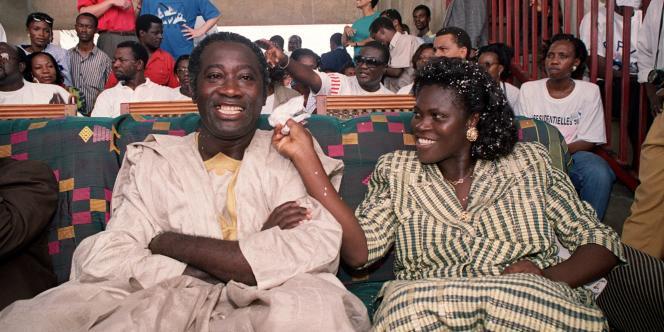 Le 20 septembre la Côte d'Ivoire a annoncé son refus de transférer Simone Gbagbo à la CPI – ici en octobre 2010 en compagnie de son époux, Laurent Gbagbo durant la campagne électorale.